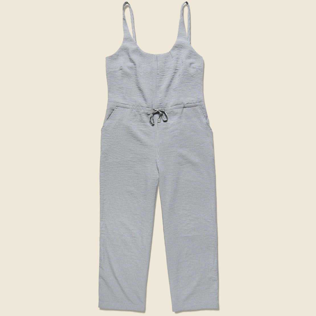 Bridge & Burn Otto Jumpsuit - Grey Seersucker