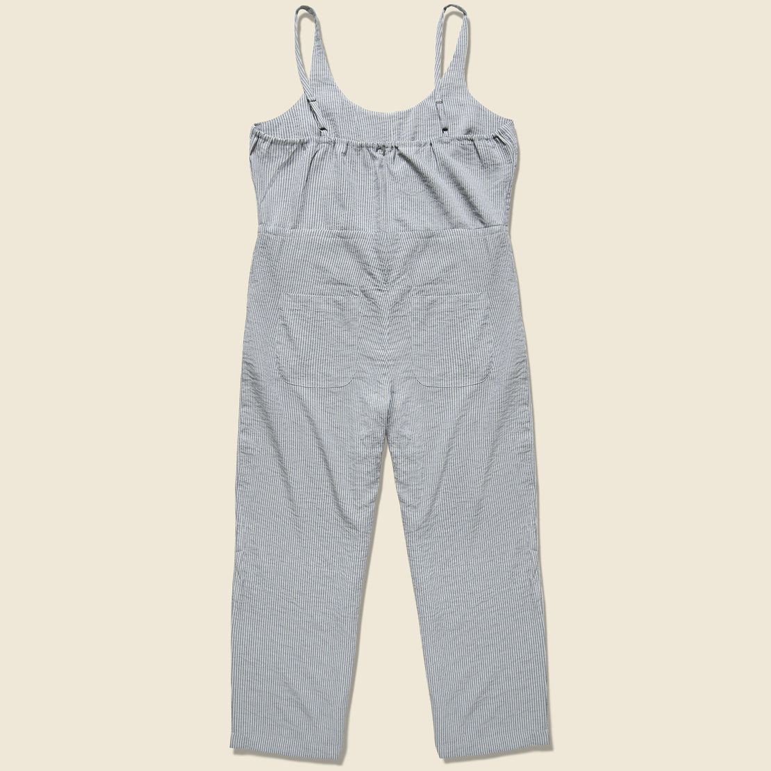 Otto Jumpsuit - Grey Seersucker