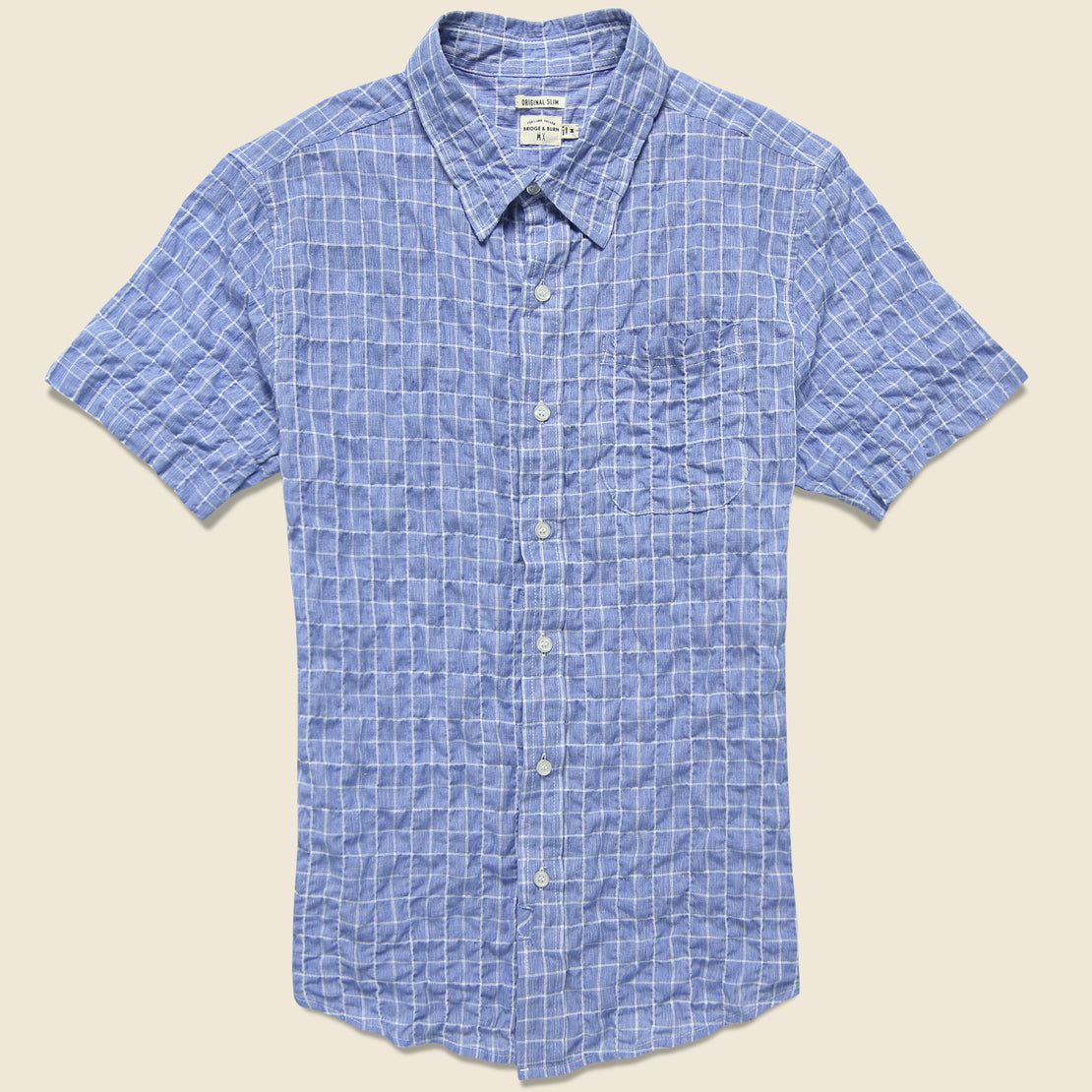 Bridge & Burn Harbor Shirt - Blue Windowpane