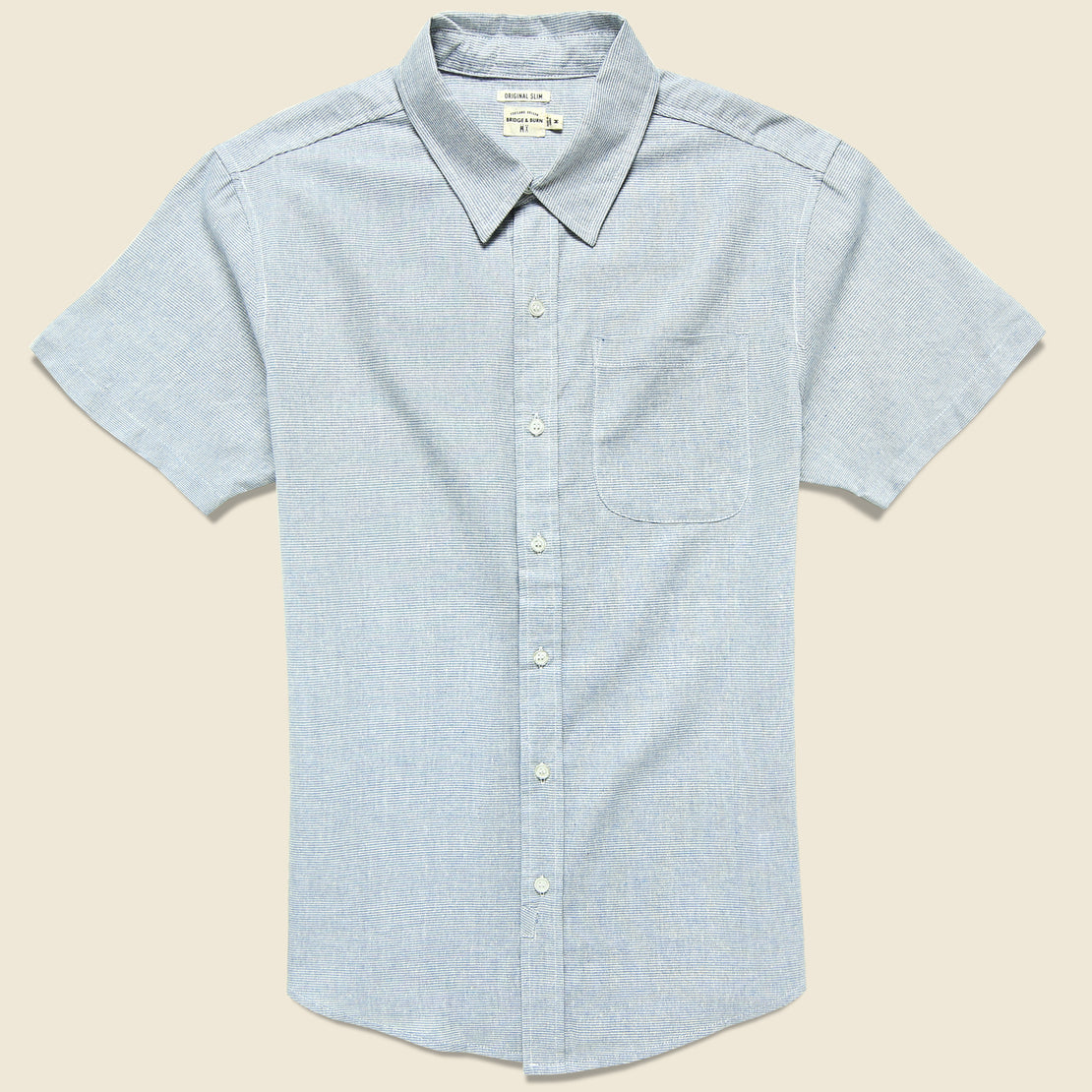 Bridge & Burn Harbor Shirt - Light Blue Stripe