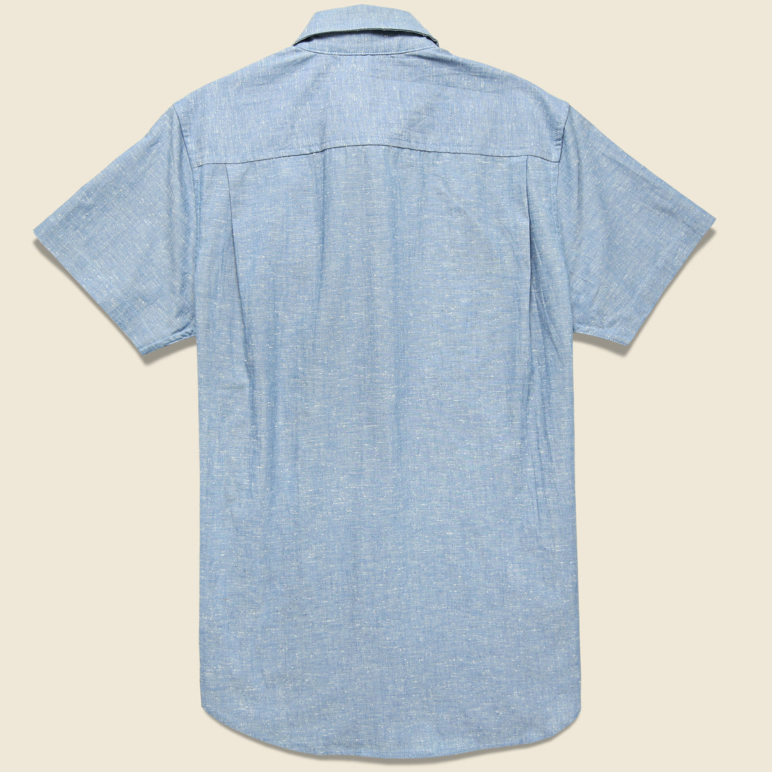 Marten Slub Chambray Shirt - Medium Indigo