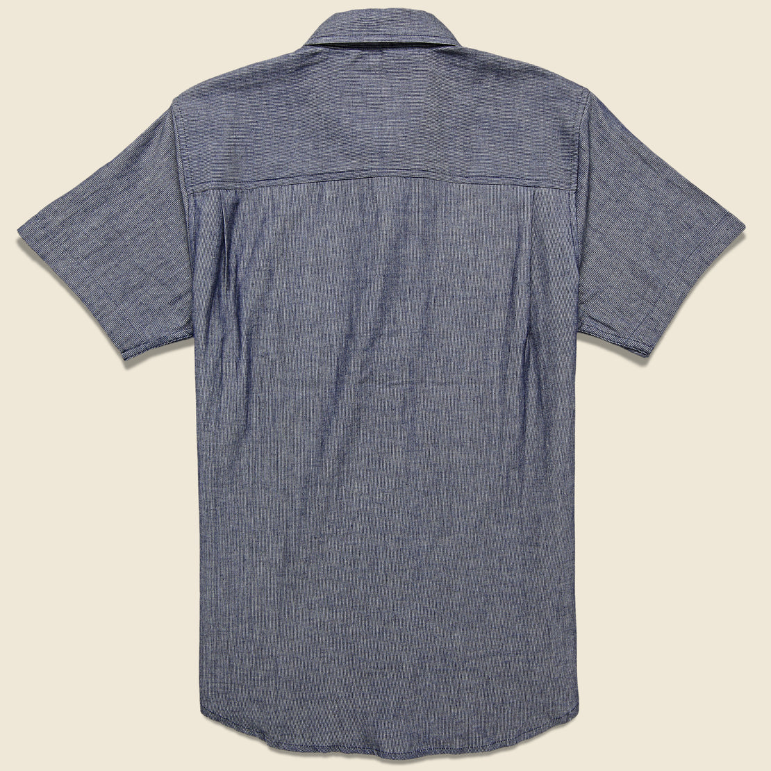 Harbor Chambray Stripe Shirt - Grey/Blue