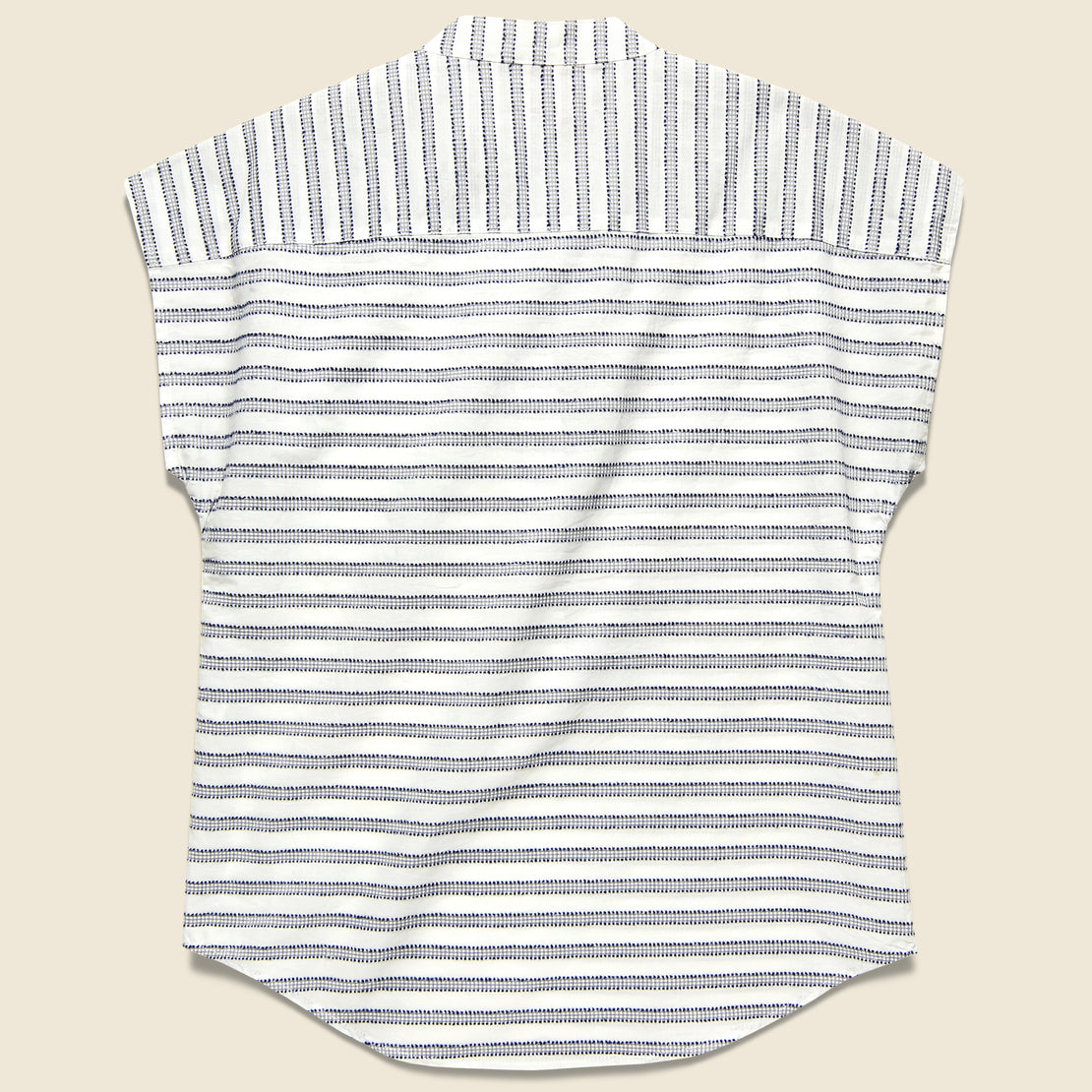 Ladd Top - Navy Gingham Stripe