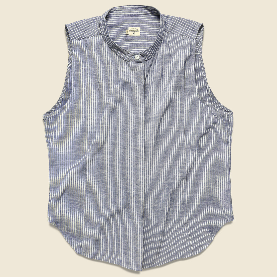 Bridge & Burn Hazel Sleeveless Top - Navy Pinstripe
