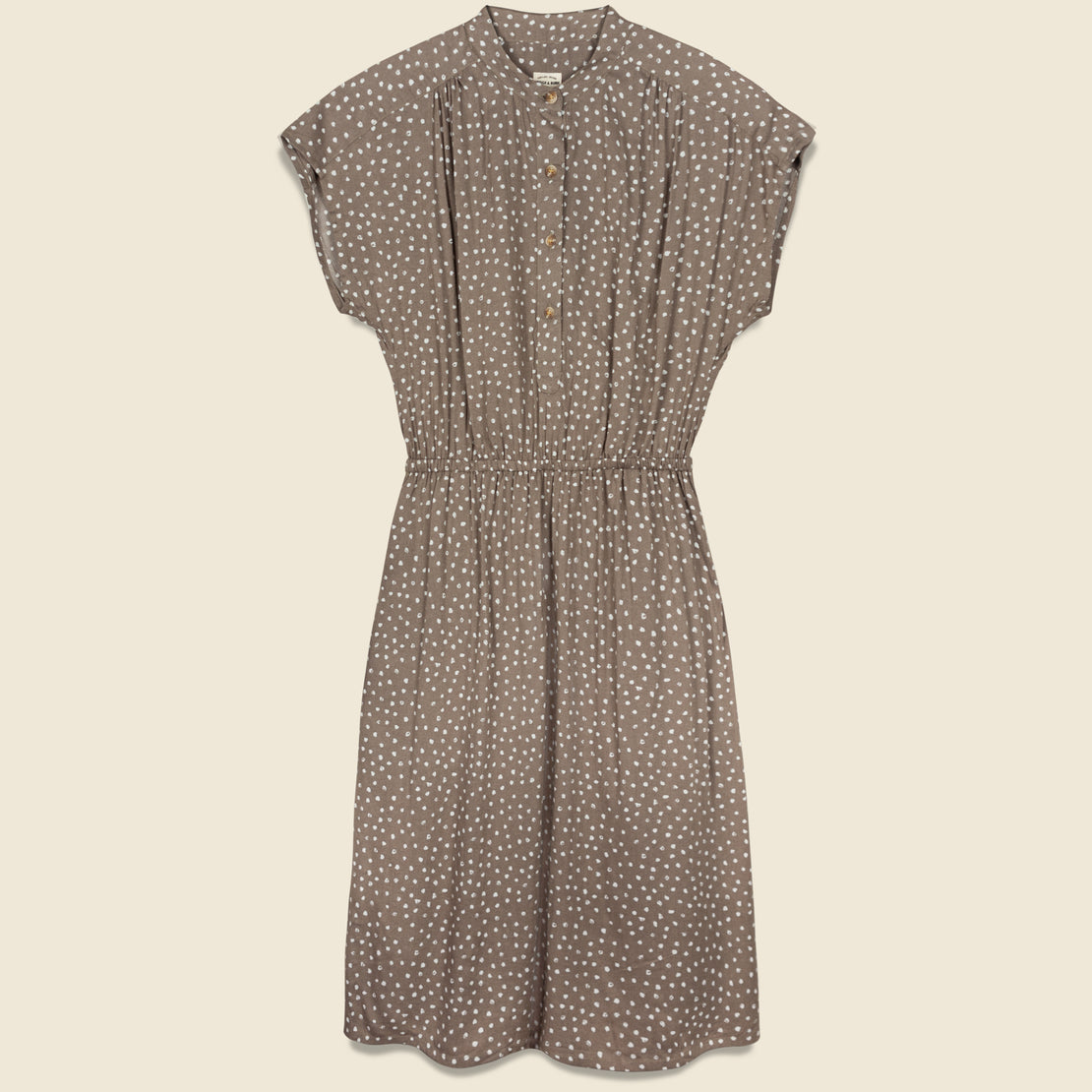 Bridge & Burn Lorane Dress - Tan Dot