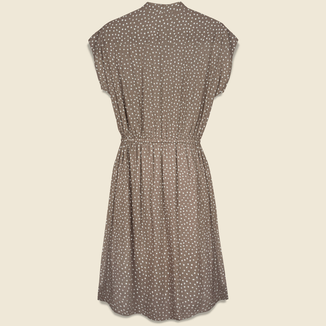 Lorane Dress - Tan Dot