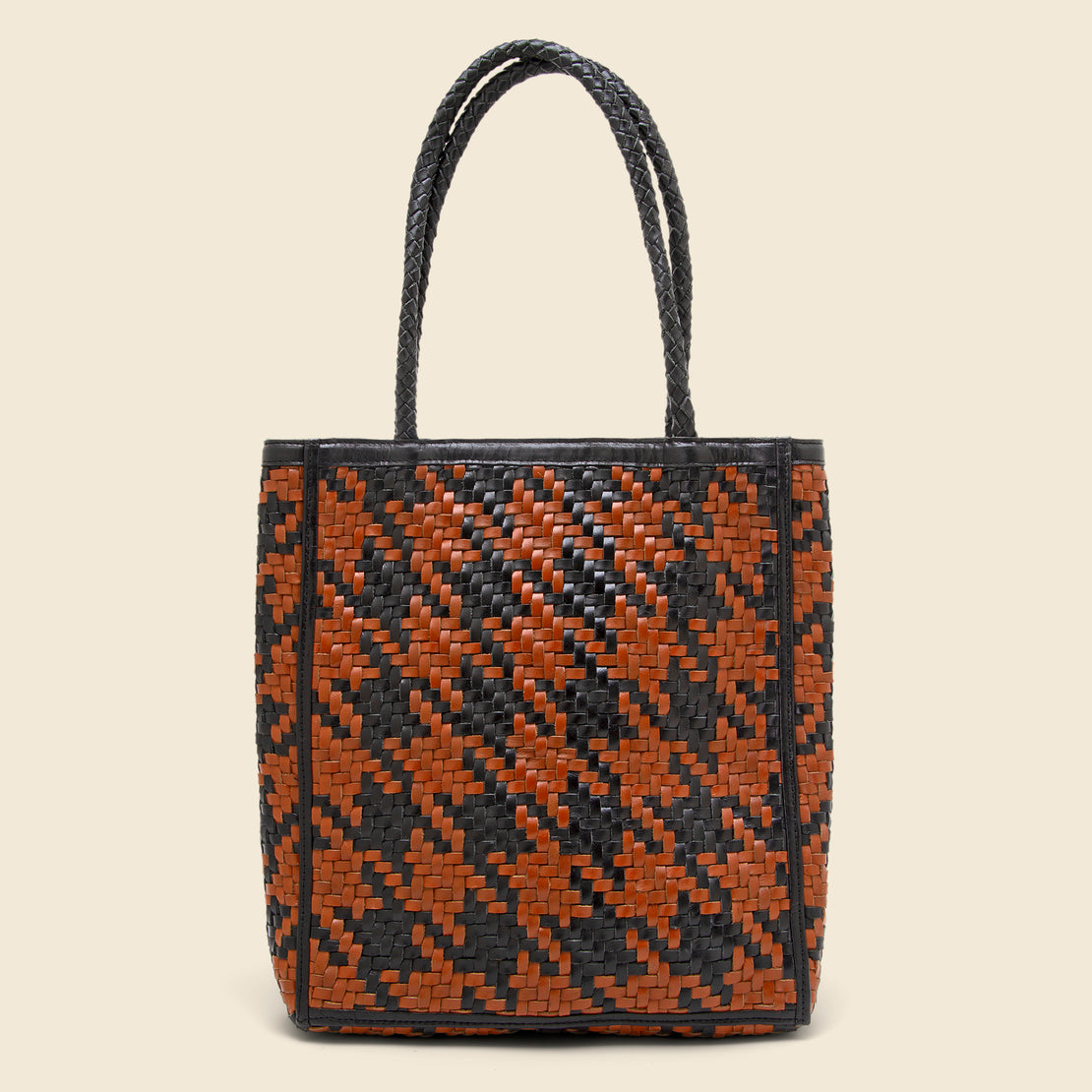 Bembien Le Tote - Black/Brown Houndstooth
