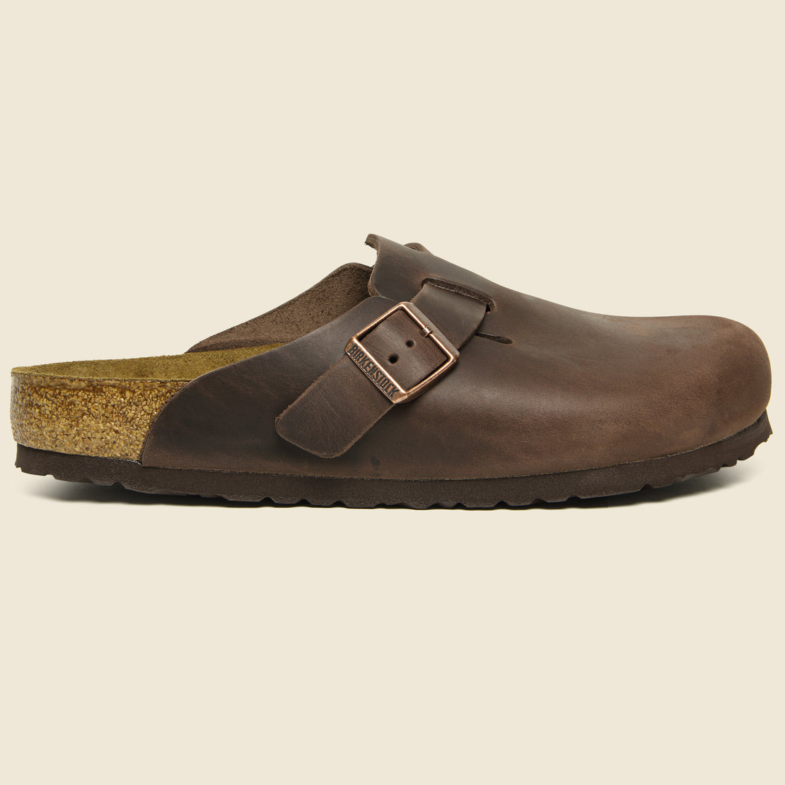 Birkenstock Boston Oiled Leather Clog - Habana