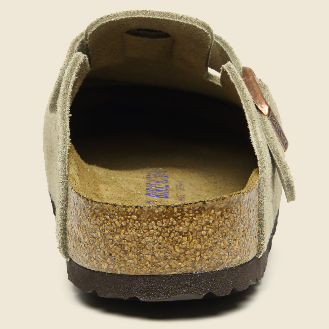 Boston Suede Clog - Taupe