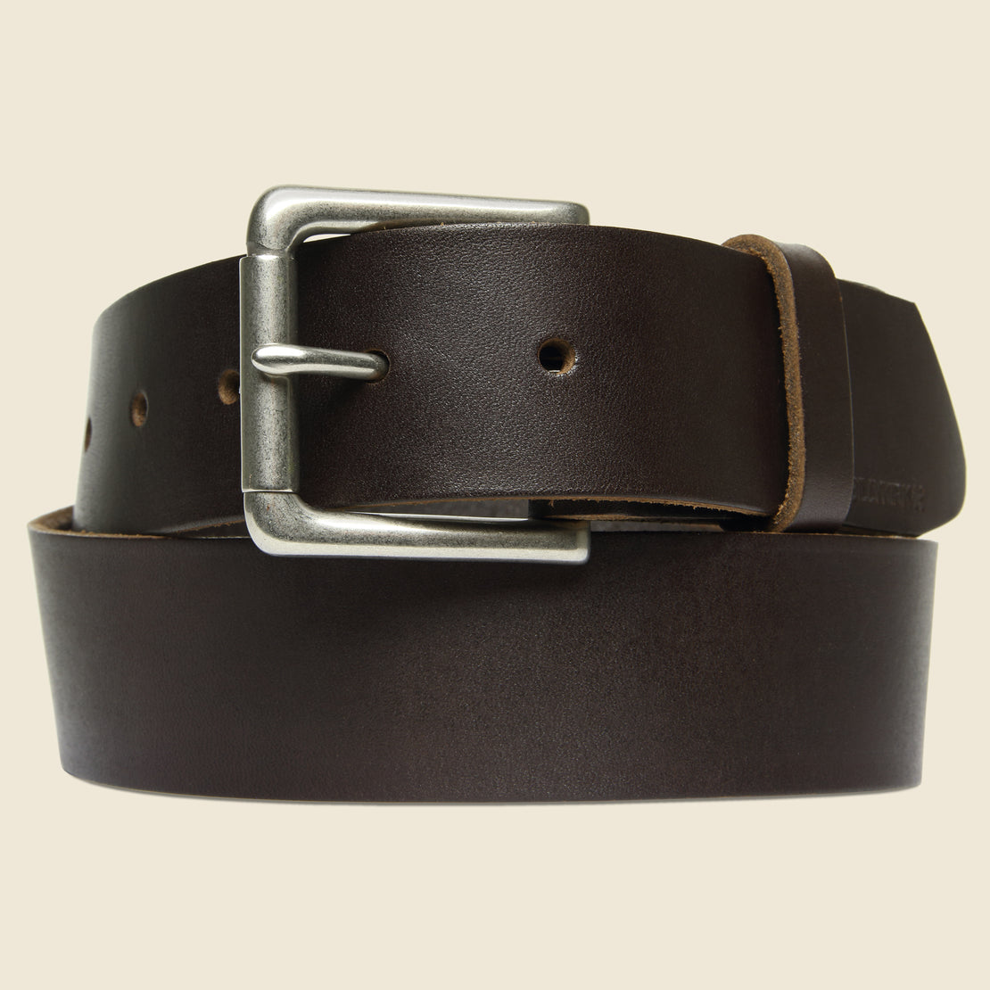BILLYKIRK Nickel Roller Bar Belt - Brown