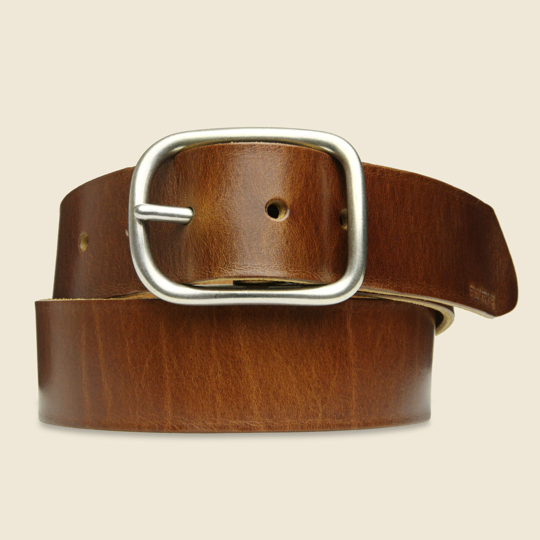 BILLYKIRK Center Bar Belt - Tan