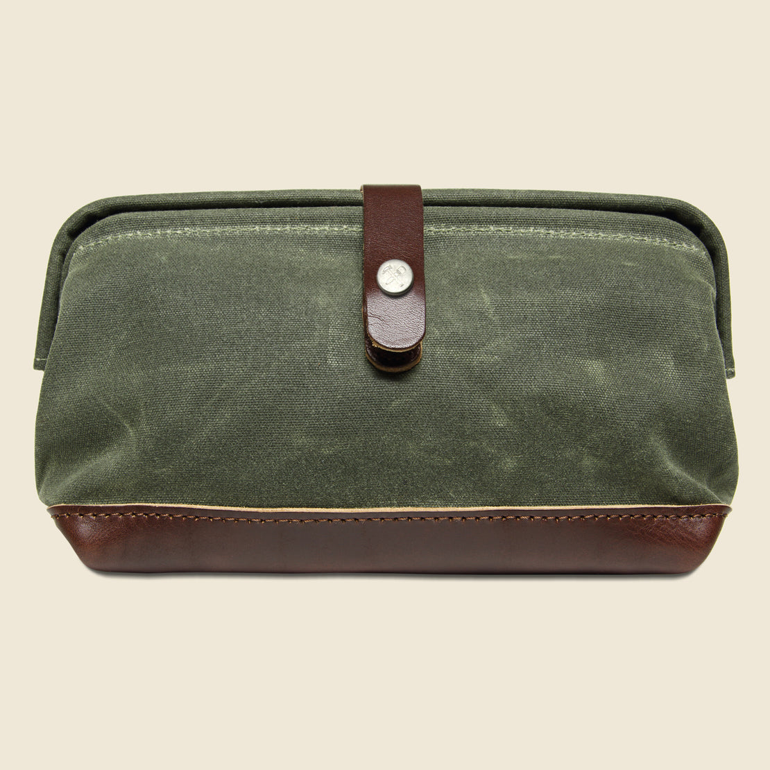 BILLYKIRK No. 257 Snap Dopp Kit - Olive/Brown