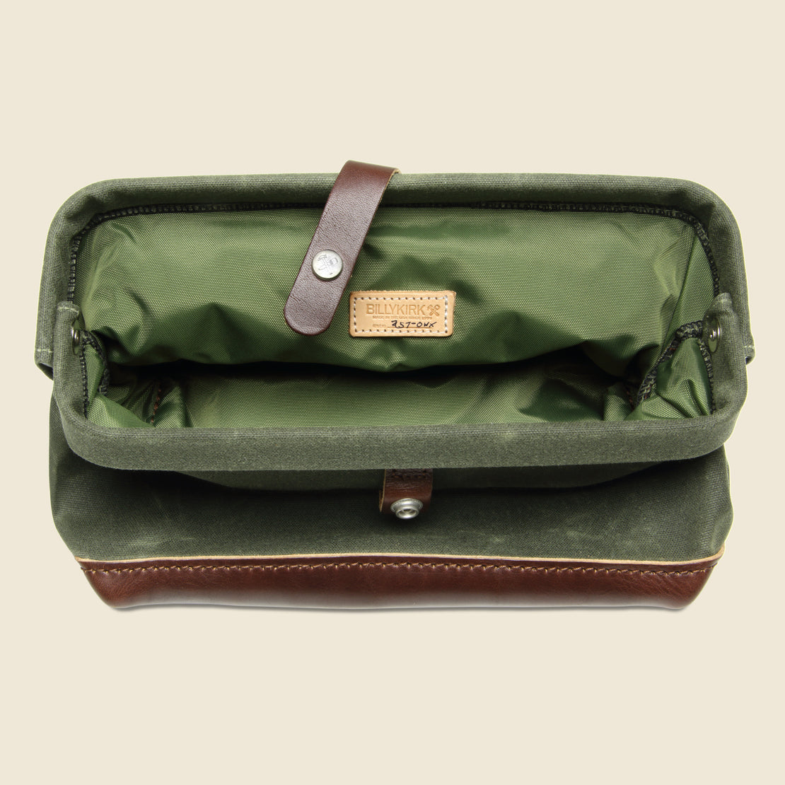 No. 257 Snap Dopp Kit - Olive/Brown - BILLYKIRK - STAG Provisions - Accessories - Bags / Luggage