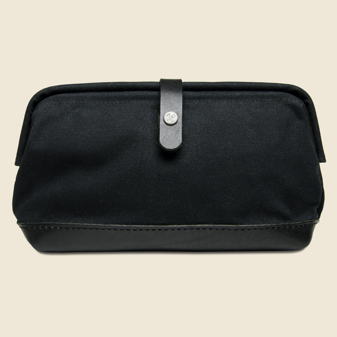 BILLYKIRK No. 257 Snap Dopp Kit - Black Waxed