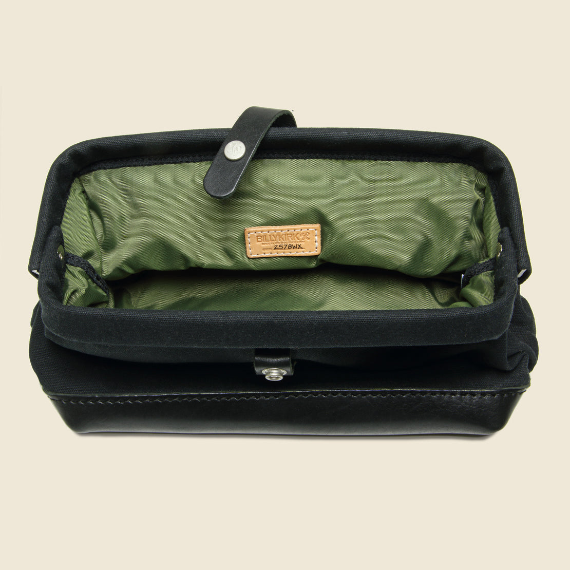 No. 257 Snap Dopp Kit - Black Waxed - BILLYKIRK - STAG Provisions - Accessories - Bags / Luggage