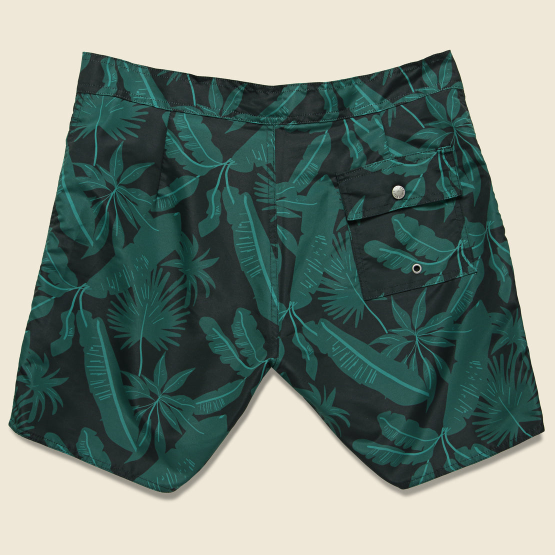 Tropical Palms Boardshort - Black/Green
