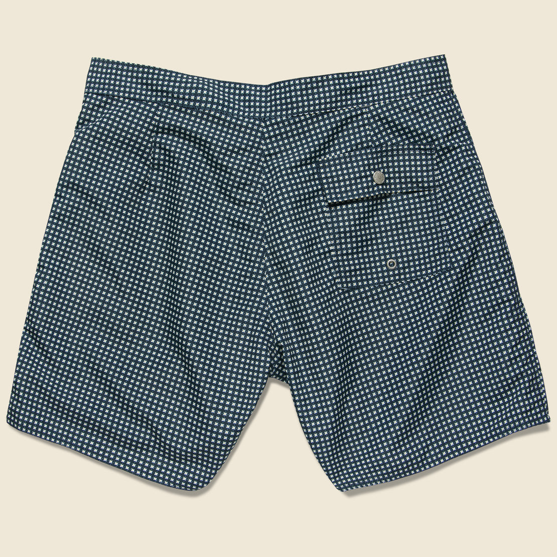 Geo Blue Boardshort - Blue/White