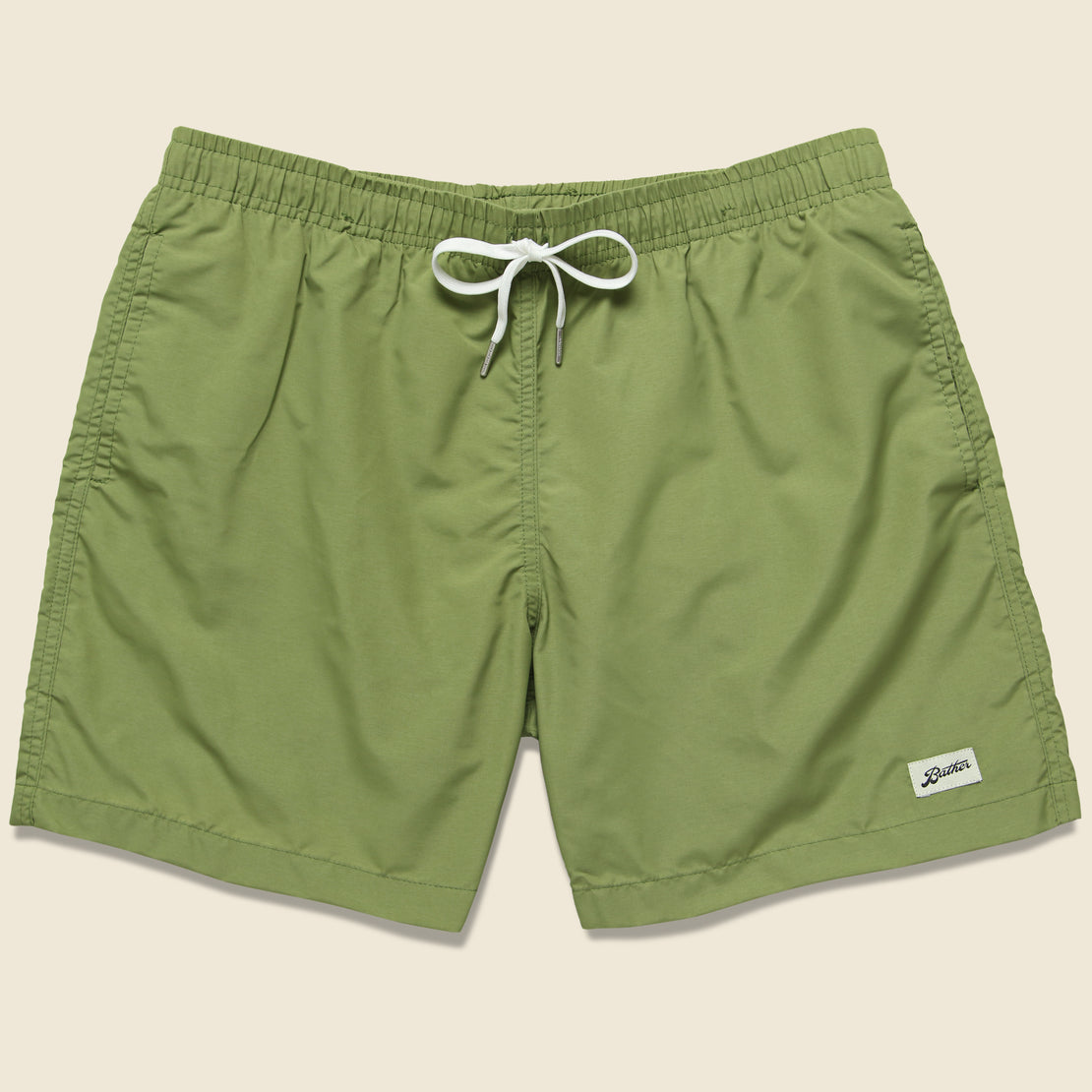 Bather Trunk Co. Solid Swim Trunk - Olive