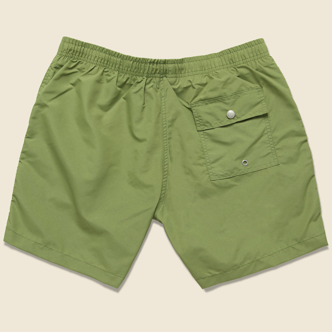 Solid Swim Trunk - Olive