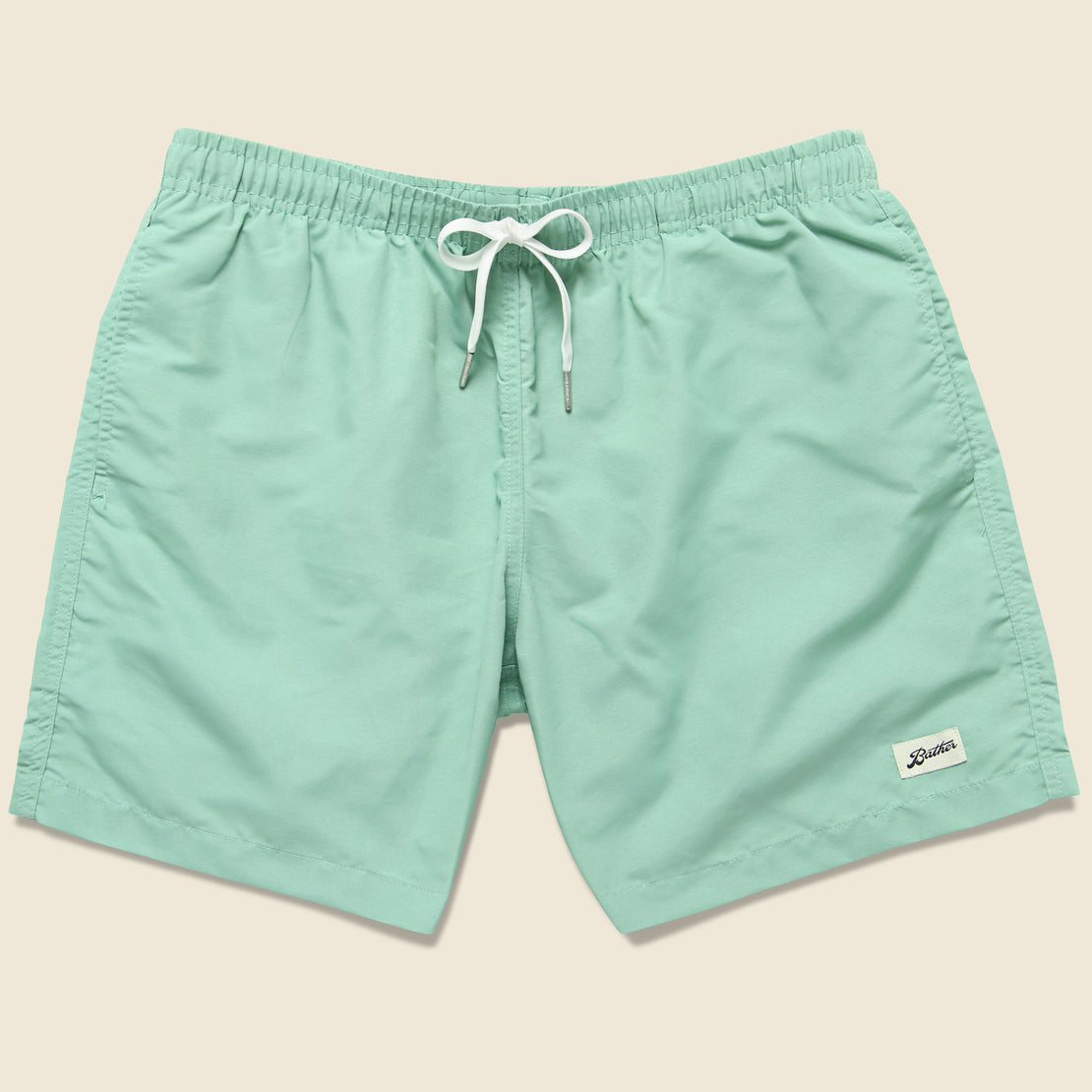 Bather Trunk Co. Solid Swim Trunk - Sea Foam