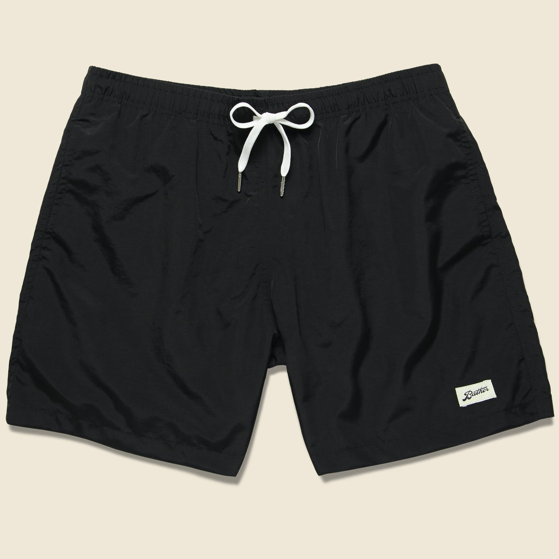 Bather Trunk Co. Solid Swim Trunk - Black