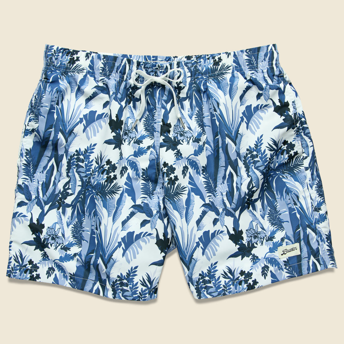 Bather Trunk Co. Tropical Forest Swim Trunk - Blue
