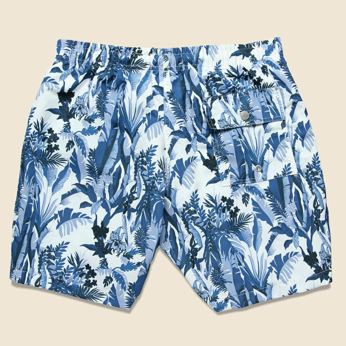 Tropical Forest Swim Trunk - Blue