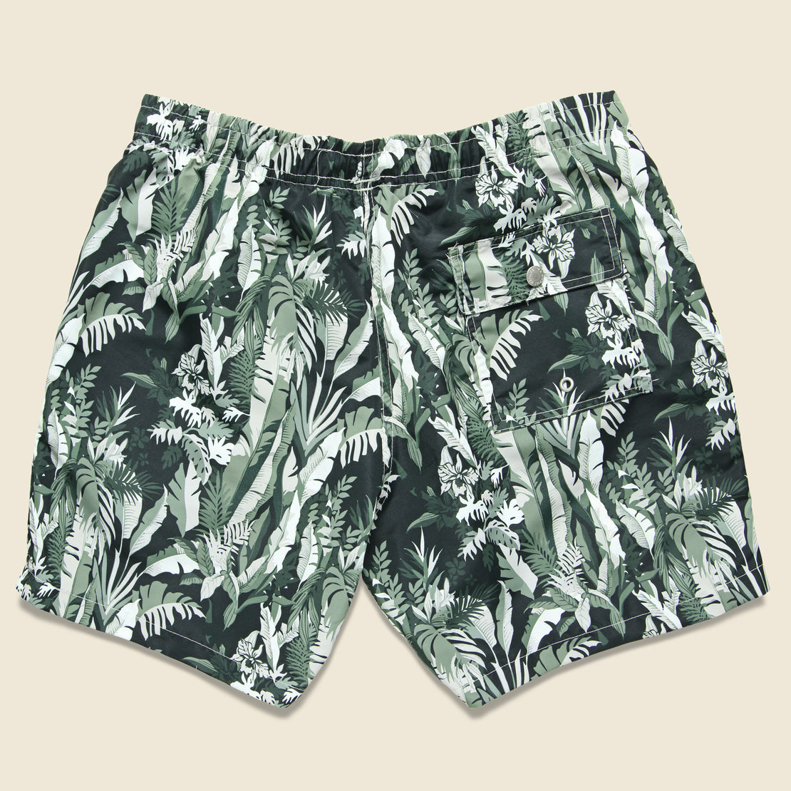 Tropical Forest Swim Trunk - Green