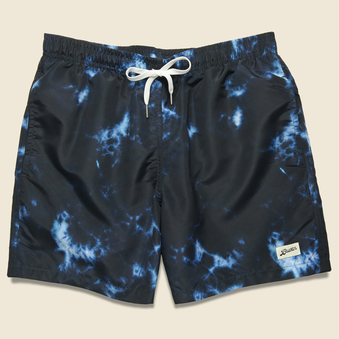 Bather Trunk Co. Shibori Dyed Swim Trunk - Indigo