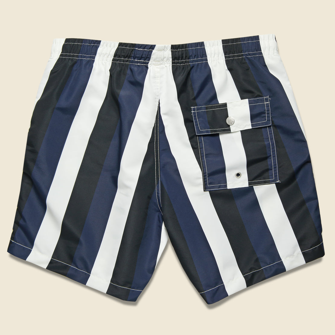 Striped Swim Trunk - Blue/Black