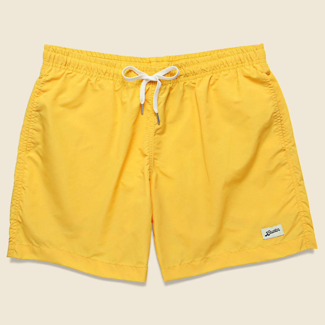 Bather Trunk Co. Solid Swim Trunk - Yellow