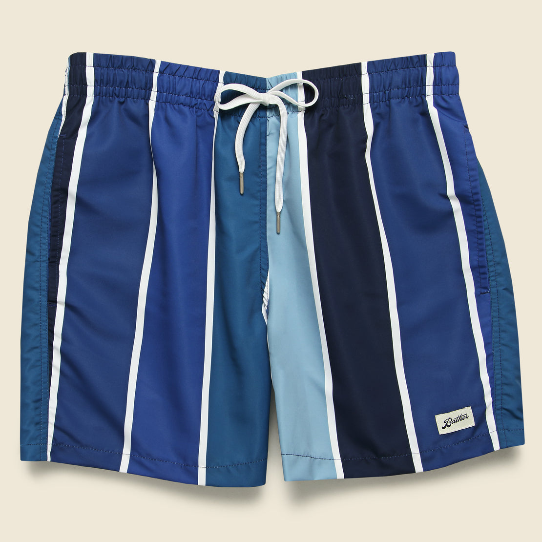 Bather Gradient Stripe Swim Trunk - Blue
