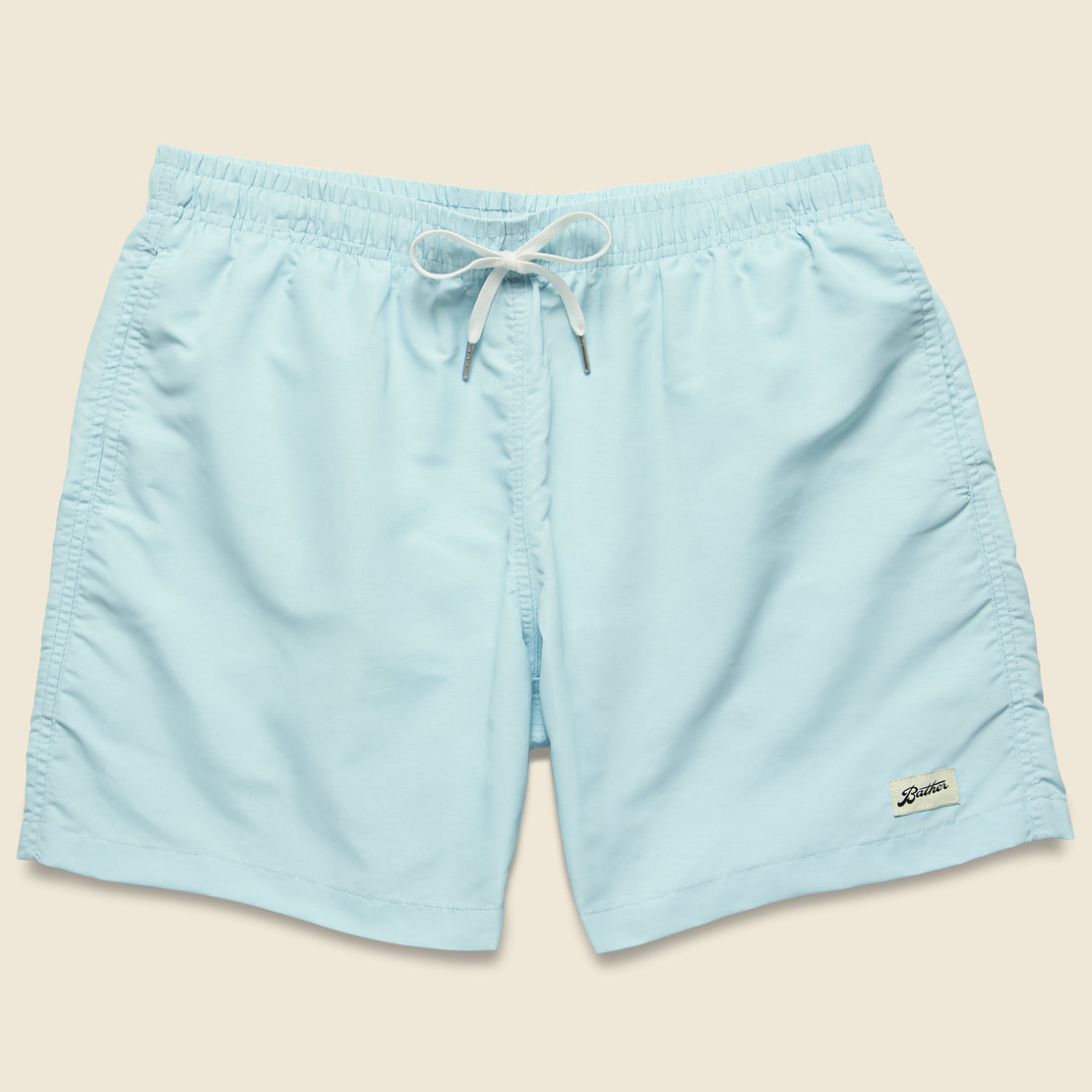 Bather Solid Swim Trunk - Baby Blue