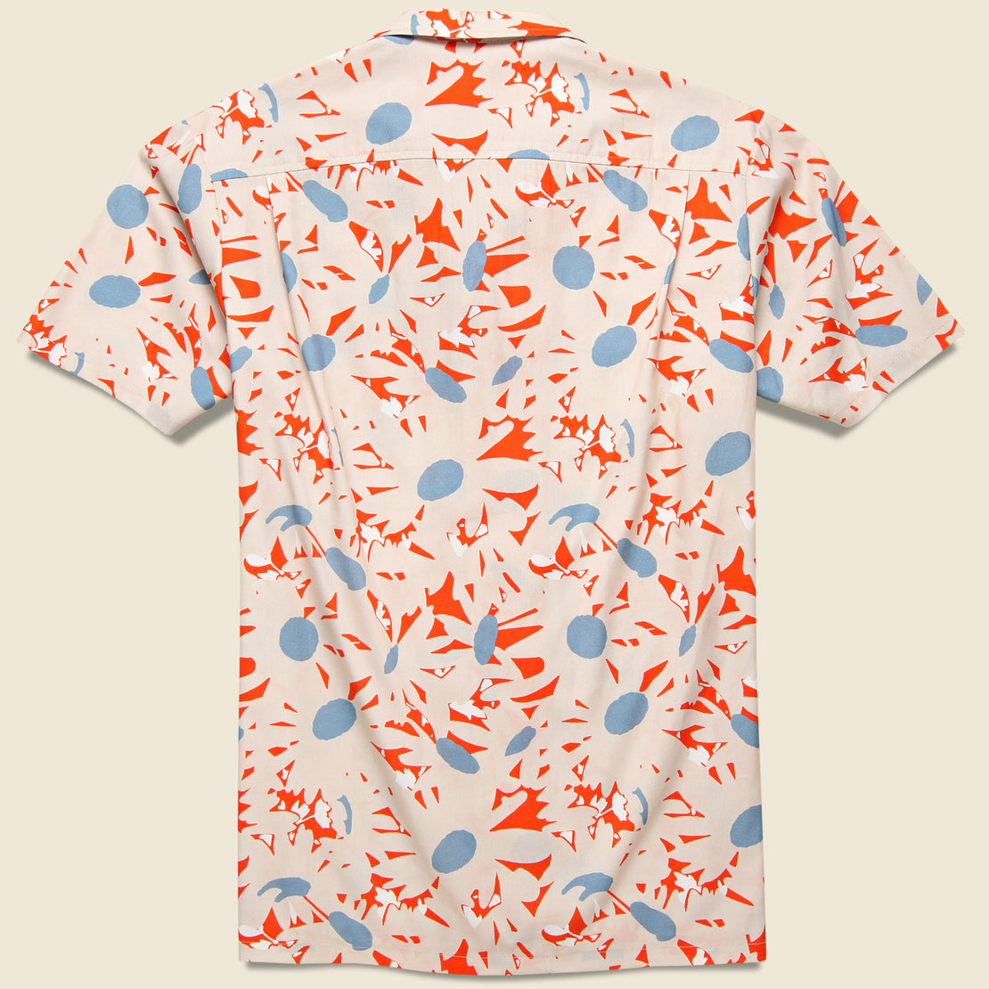 Orange Flowers Shirt - Orange/White