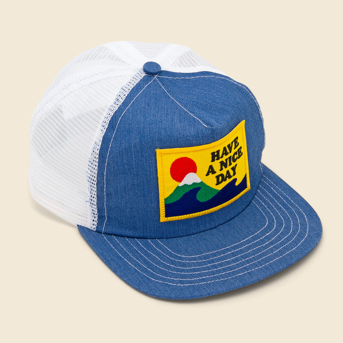 Battenwear Club Cap - Denim/White