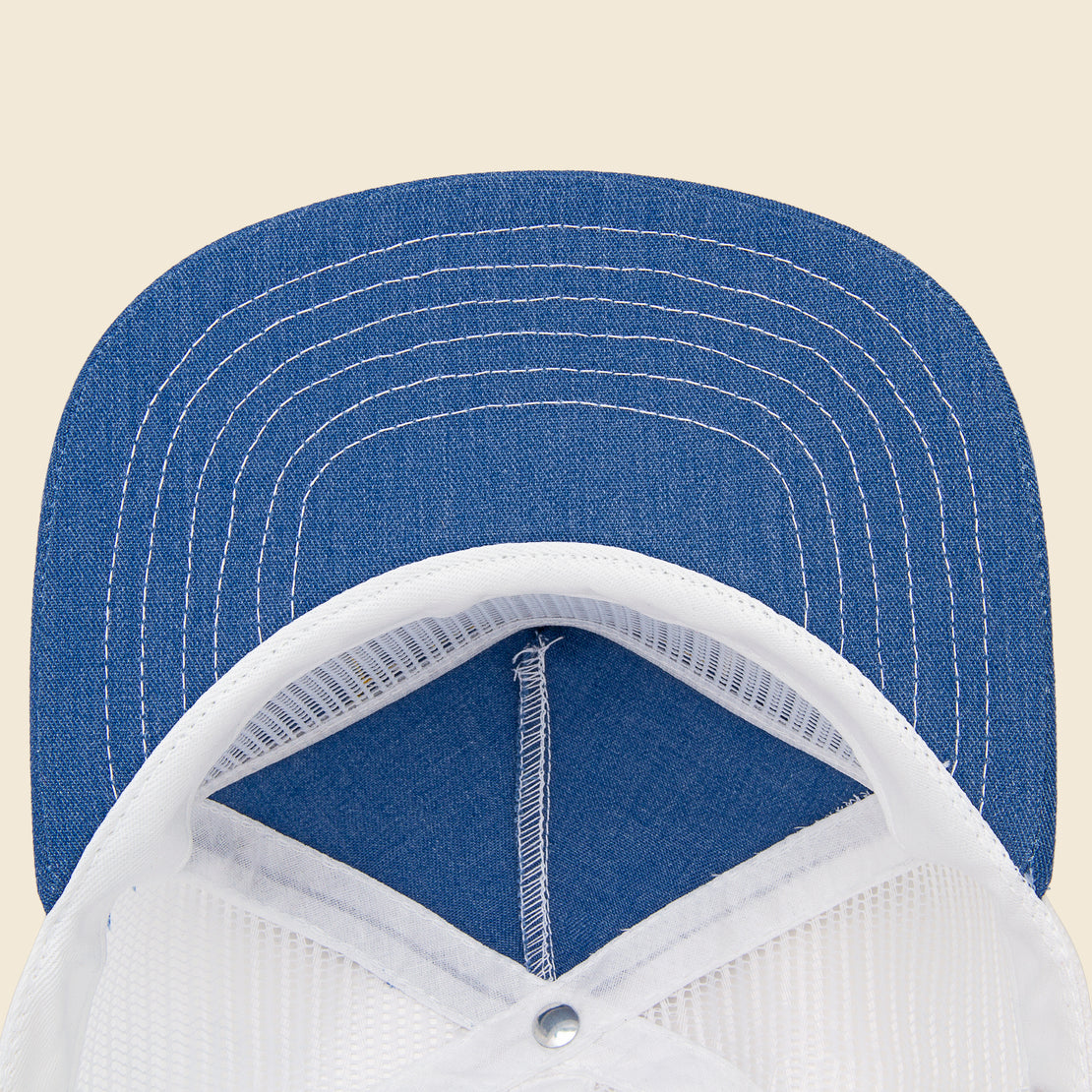 Club Cap - Denim/White
