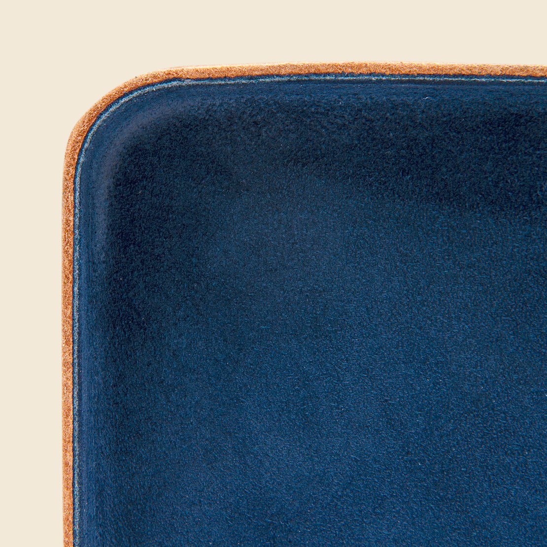 Large Leather Tray - Navy