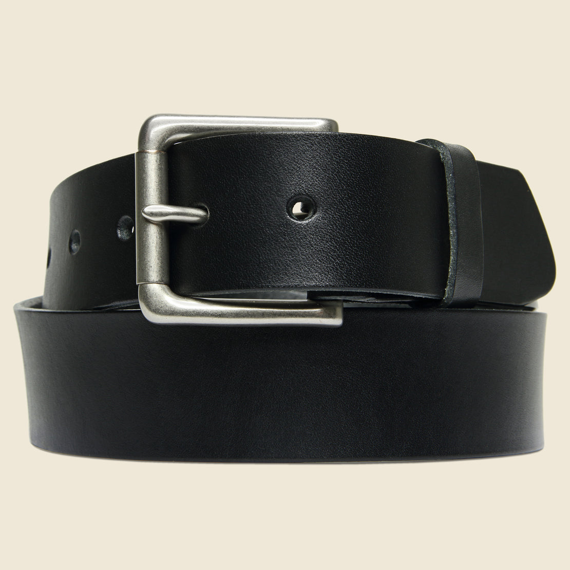 BILLYKIRK Nickel Roller Bar Belt - Black