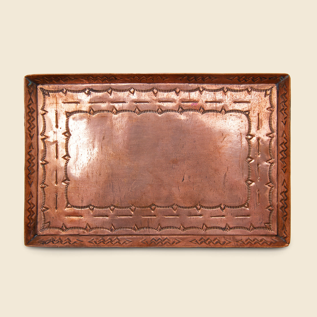 J Alexander Medium Stamped Tray - Copper