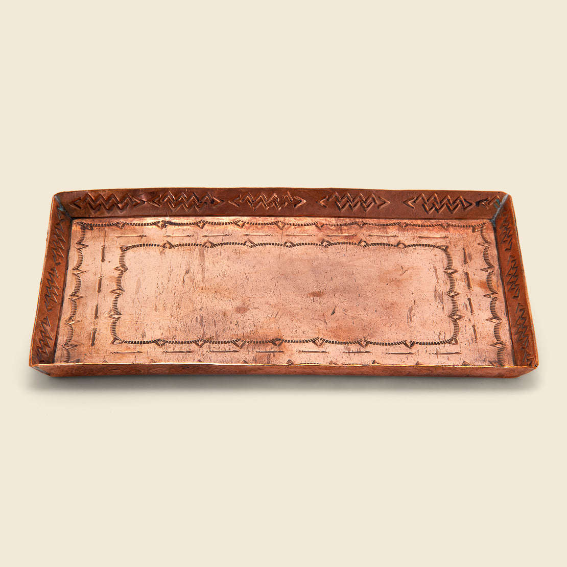 Medium Stamped Tray - Copper