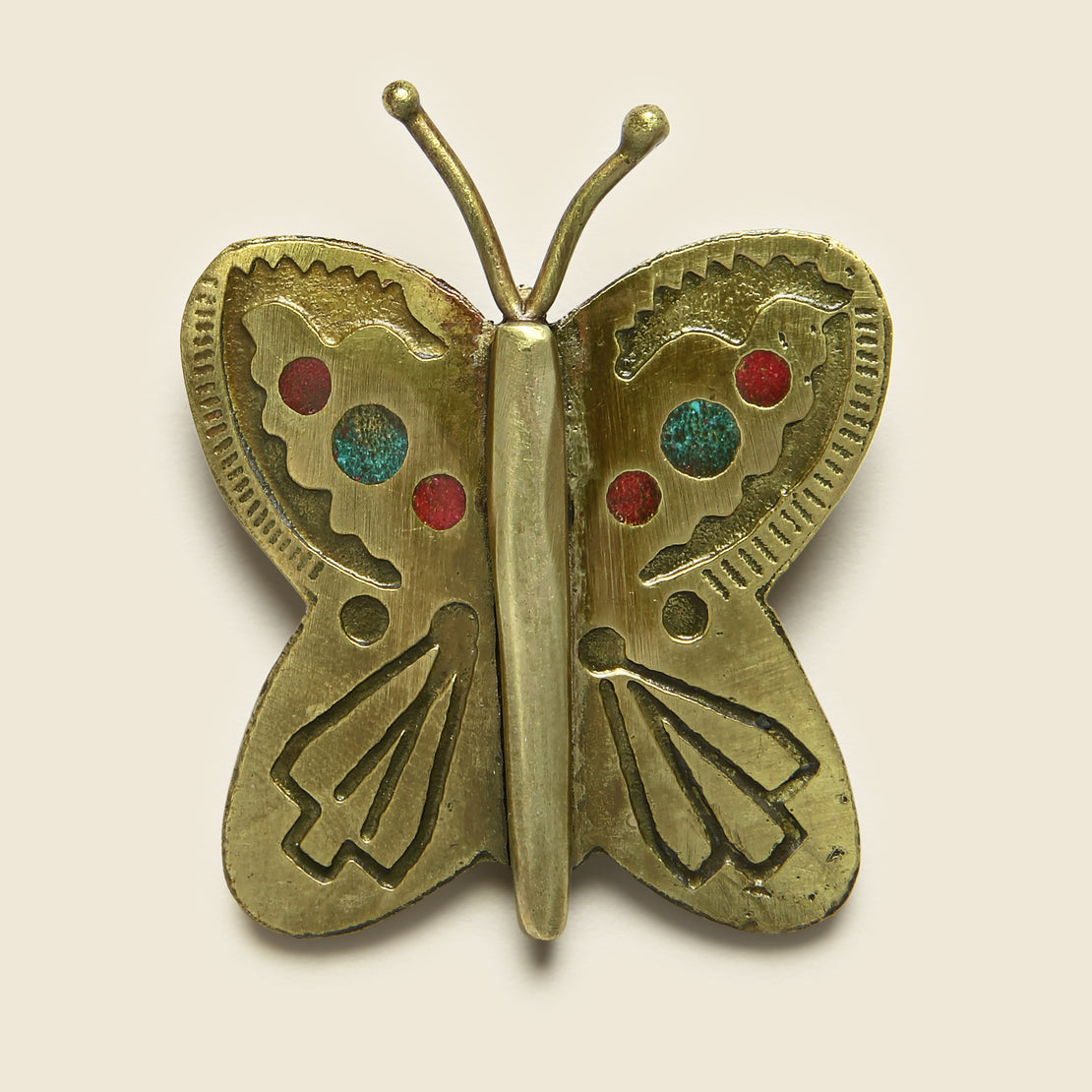 Kapital Small Butterfly Pin - Brass