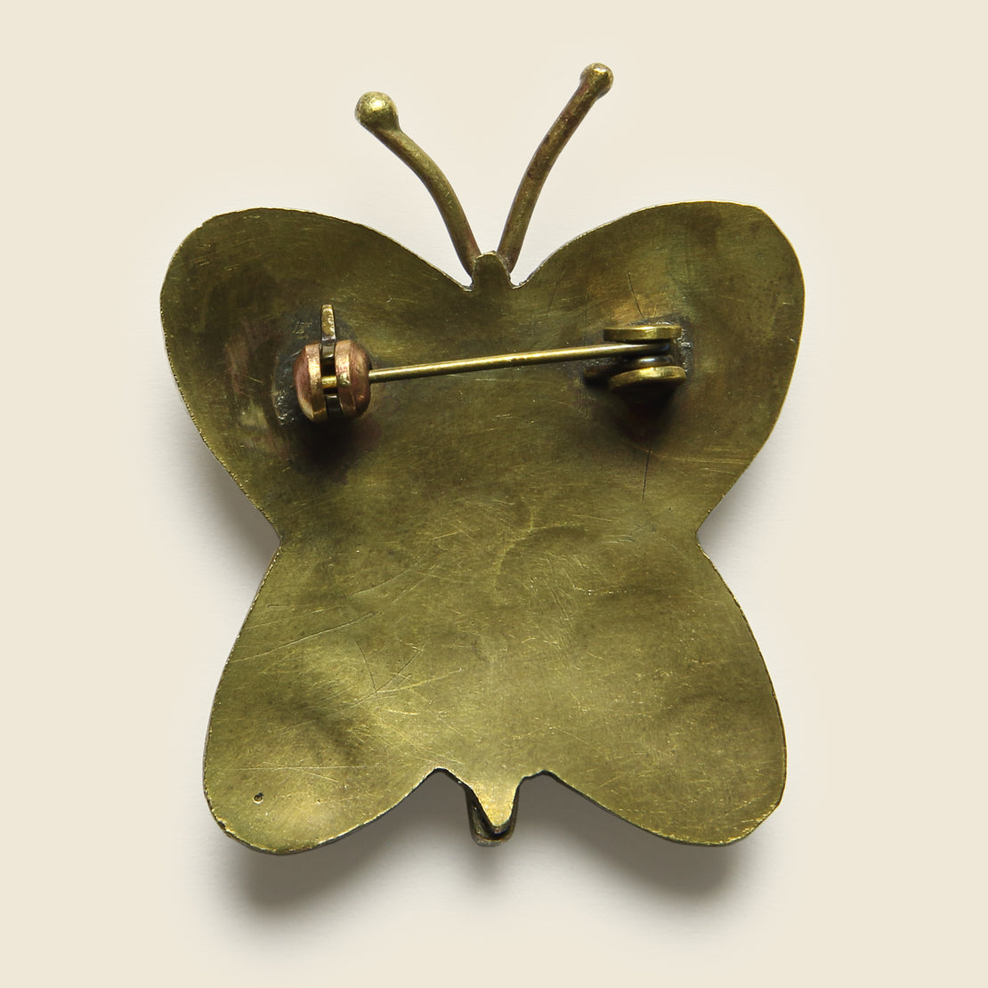 Small Butterfly Pin - Brass