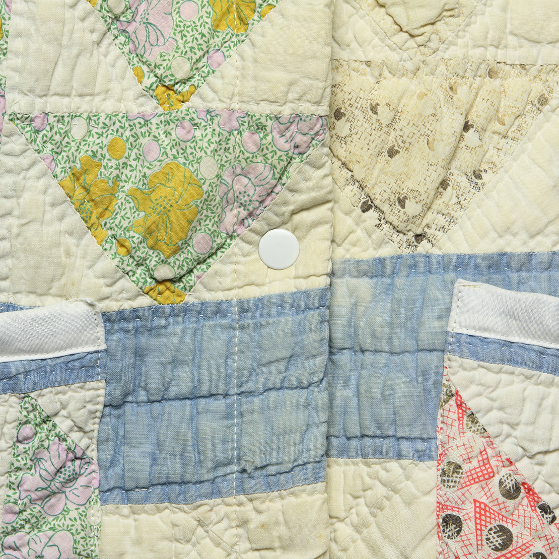 Moving Day Quilt Jacket - Blue/Green/Pink