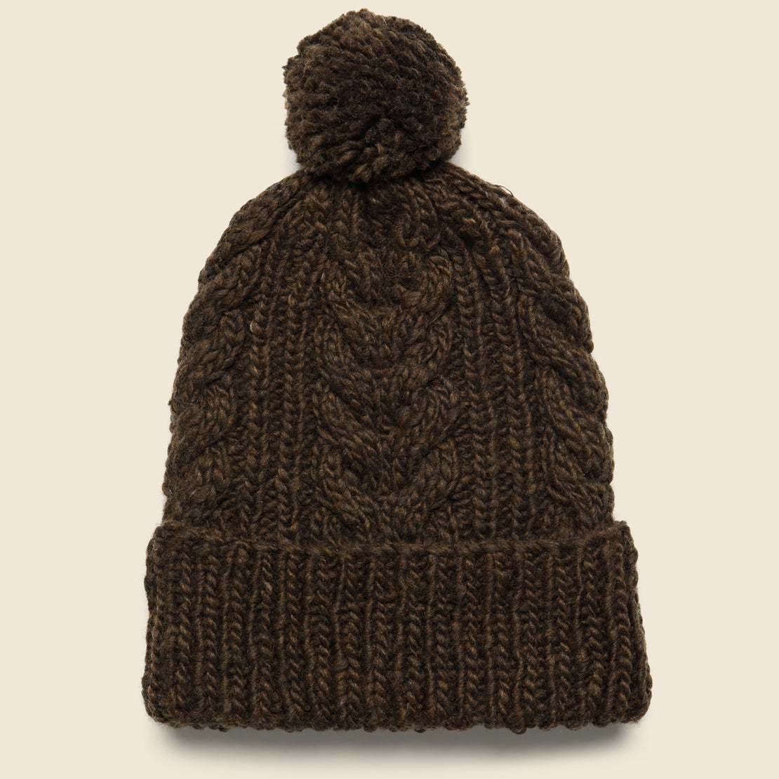 Chamula Double Cuff Fisherman Beanie - Chocolate