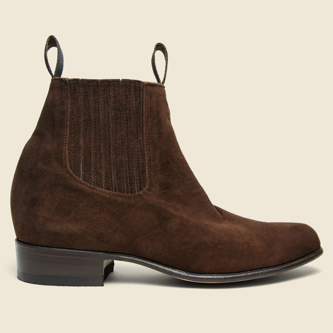 Chamula Botin Charro Chelsea Boot - Brown Suede