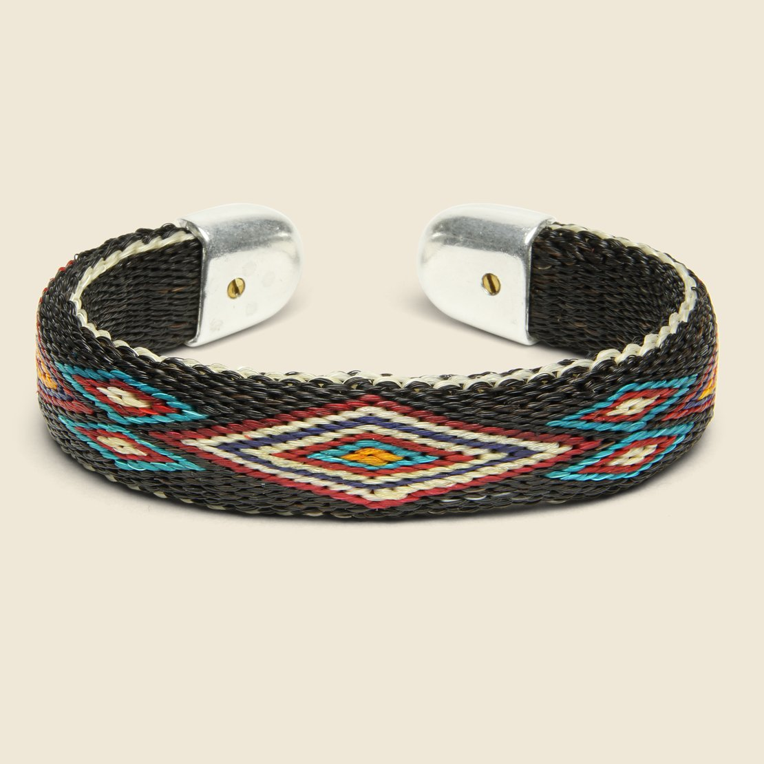 Chamula Bendable Horsehair Bracelet - Black/Multi
