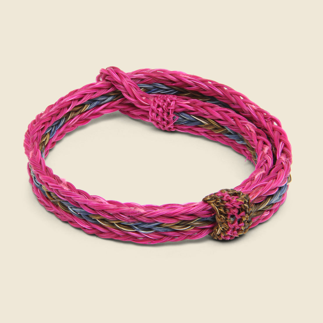 Chamula Braided Horsehair Bracelet - Pink