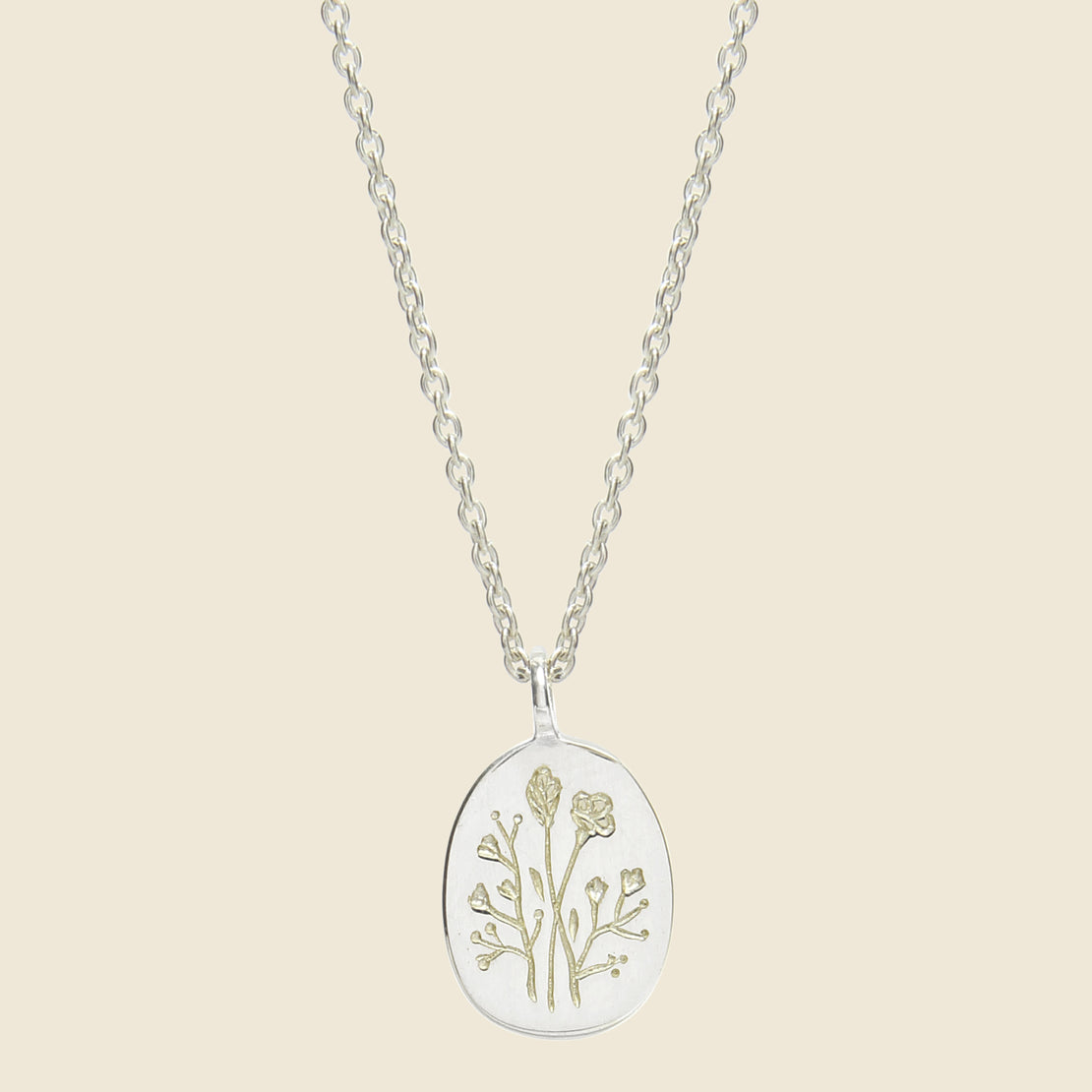 Claus Wildflower Necklace - Silver
