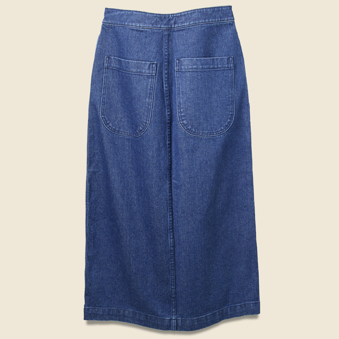 Lindsay Long Denim Skirt - Dark Blue