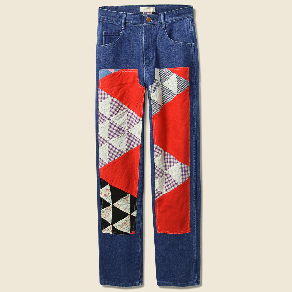 Carleen Quilt Patch Jean